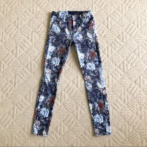 7 FOR ALL MANKIND Floral Stretchy Skinny Jeans